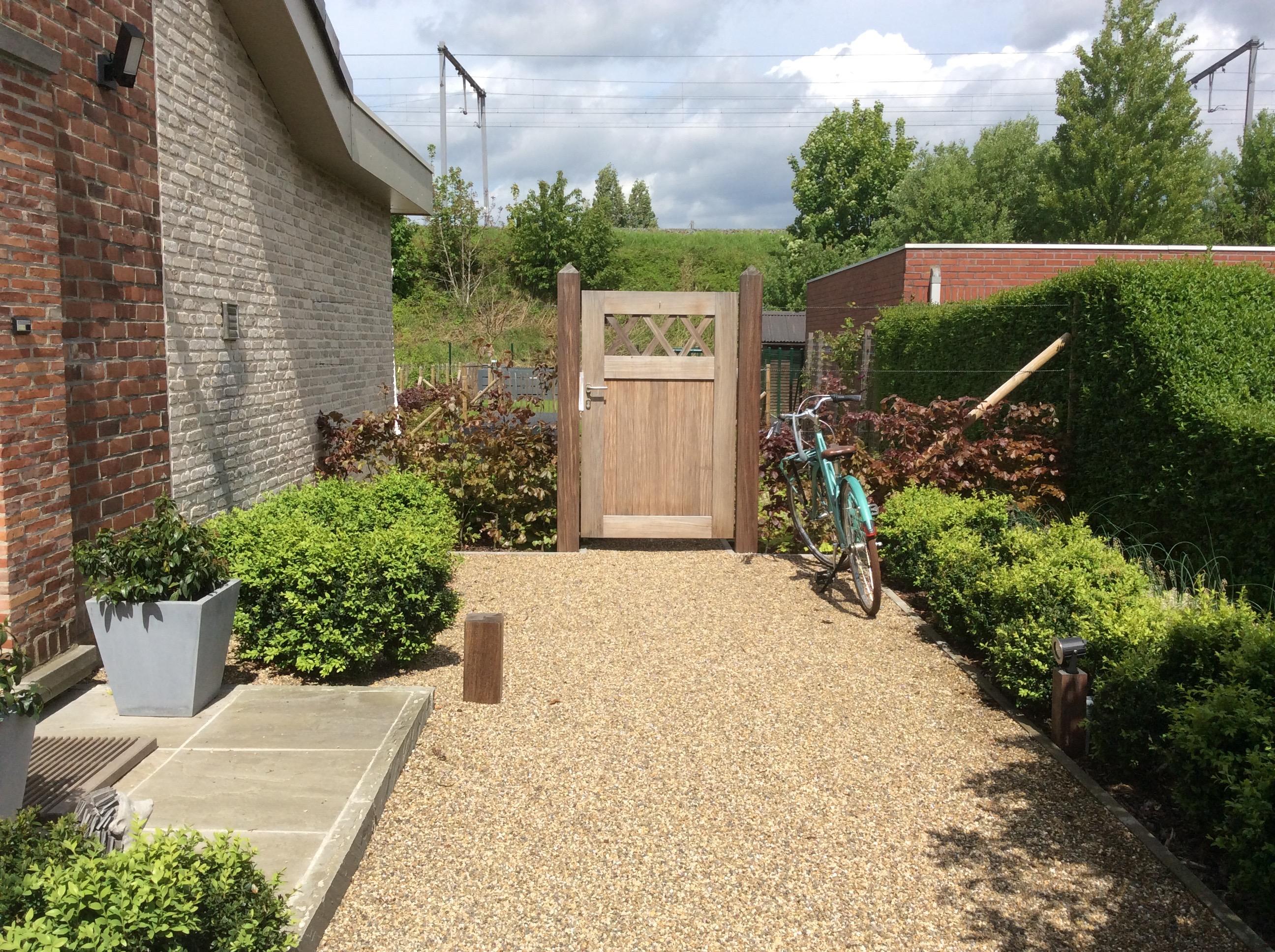 Tuinontwerp oudenaarde studio soetkin tuinarchitectuur - Doen redelijk oprit grind ...