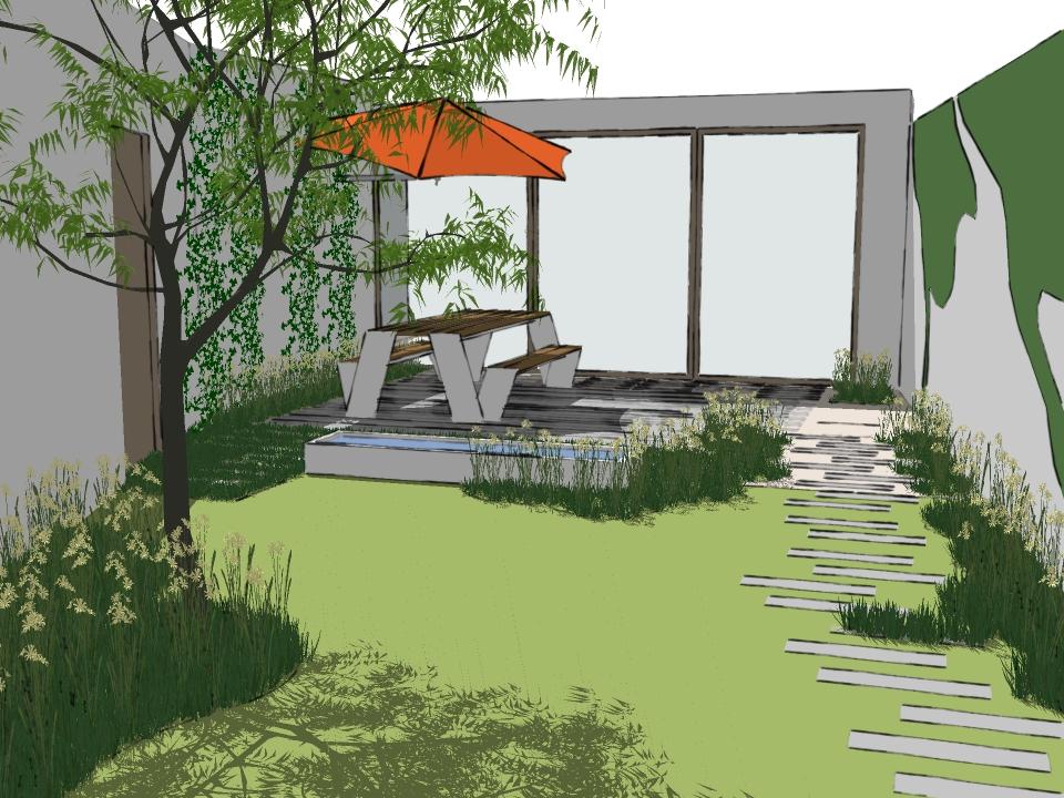 Tuinontwerp gent studio soetkin tuinarchitectuur for Tuinontwerp stadstuin